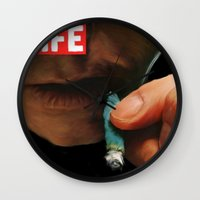 marijuana Wall Clocks featuring LIFE MAGAZINE: Marijuana by Tia Hank