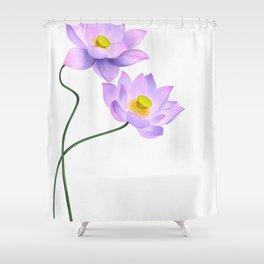 Thamarai, Yellow Flower, Floral Pattern, Yellow Blossom Shower Curtain
