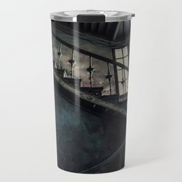 Twisted blue and gray staircase Travel Mug
