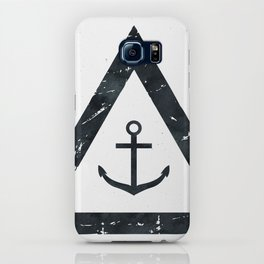 Vintage Anchor Black and White iPhone Case