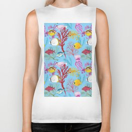 Coral Reef - All Together Water Biker Tank