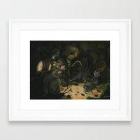 over the garden wall Framed Art Prints featuring Over the Garden Wall by Patt Kelley