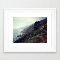 big sur Framed Art Prints featuring Big Sur by FlavioSarescia
