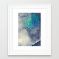 the moon Framed Art Prints featuring moon by Claudia Drossert