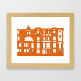Brownstones Framed Art Print