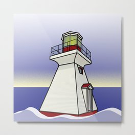 Lighthouse Sea Scene Metal Print