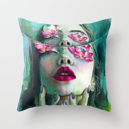 Refraction of the Spotless Mind Throw Pillow