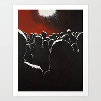 it crowd Art Prints featuring Crowd by Shelley Chandelier
