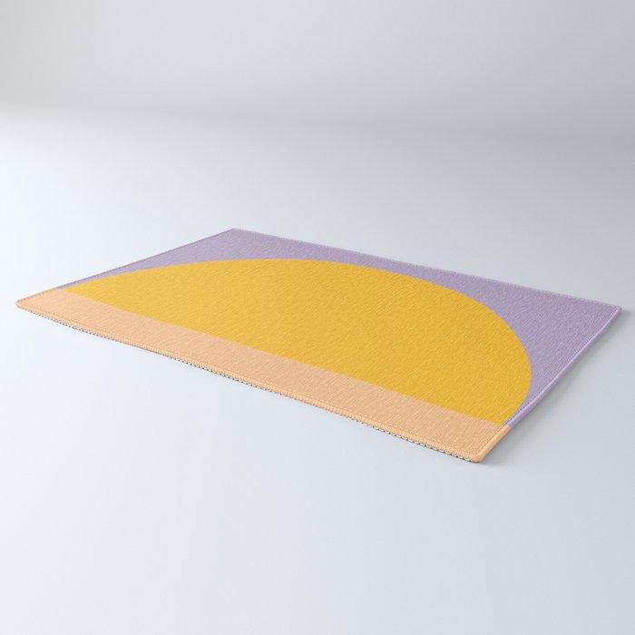 Retro Sunset - Bright Vibrant Colors Rug