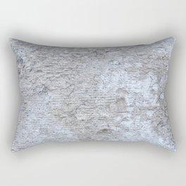 Wall texture black white art Rectangular Pillow