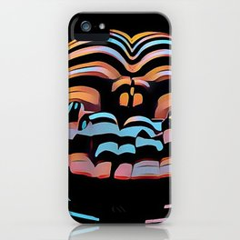 1333s-MAK Abstract Rearview Butt Up Pants Down Fingers in Front iPhone Case