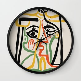 Picasso - Woman's head #1 Wall Clock