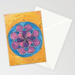 Calming Pink and Purple Mandala Stationery Cards