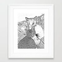 kittens Framed Art Prints featuring Kittens by Michelle