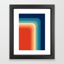 Retro 70s Color Palette III Framed Art Print