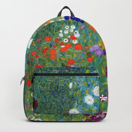 Gustav Klimt - Cottage Garden Backpack