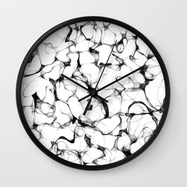 Wires Black & White Wall Clock