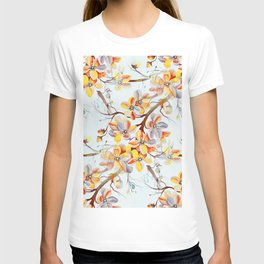 Japanese Cherry Tree Flowers in Seamless Pattern T-shirt