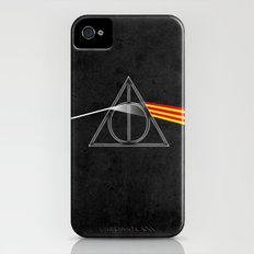 the darkside of the deathly hallows iPhone (4, 4s) Slim Case