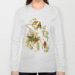 American Crossbill Vintage Bird Illustration Long Sleeve T-shirt