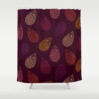 paisley Shower Curtains featuring Paisley by Vlada Young
