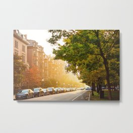 Boston, MA - Commonwealth Avenue Metal Print