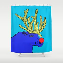 Rudolph The Red Nose Raindeer Shower Curtain