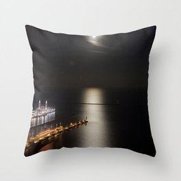 Navy Pier Moonlight Throw Pillow
