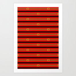 my what a guy stripe Art Print