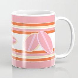 Surfer Stripes in Pink Coffee Mug