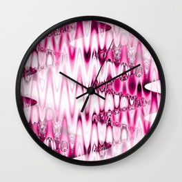 Warped Glass in pink Wall Clock