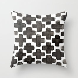 Black & White Crosses - Katrina Niswander Throw Pillow
