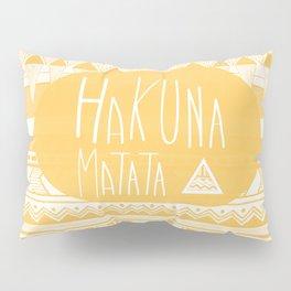Hakuna Matata Yellow Pillow Sham