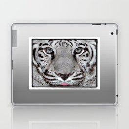 White Tiger with a little tougue Laptop & iPad Skin
