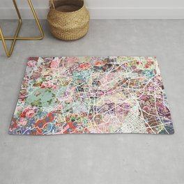 Clermont-Ferrand map Rug