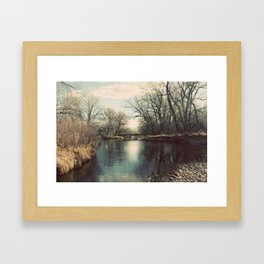 Cache la Poudre River Fort Collins Colorado Color Photo Framed Art Print