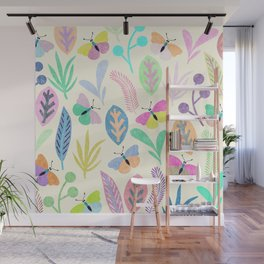 Flower and Butterfly II Wall Mural