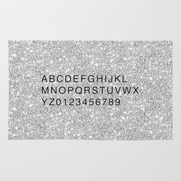 Helvetica Jumble Rug