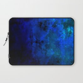 SECOND STAR TO THE RIGHT Rich Indigo Navy Blue Starry Night Sky Galaxy Clouds Fantasy Abstract Art Laptop Sleeve