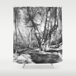 Musing of Trees Shower Curtain