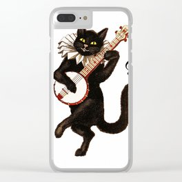 Cute Vintage Dancing Cat Clear iPhone Case