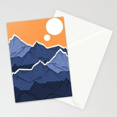 The mountains under the two suns Stationery Cards