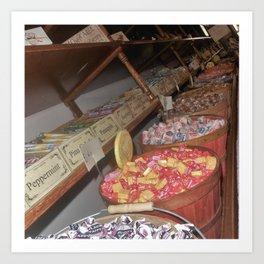 Candy Store Perspective Art Print
