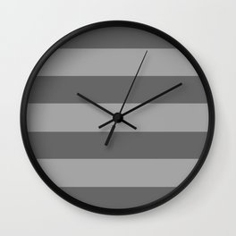 Shades of Grey Stripes Wall Clock