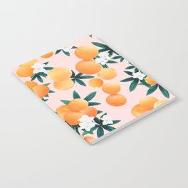 Orange Twist Flower Vibes #7 #tropical #fruit #decor #art #society6 Notebook