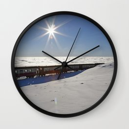Ride on the clouds Wall Clock