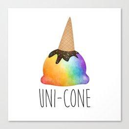 Uni-cone Canvas Print