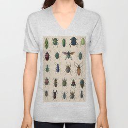 Insects, flies, ants, bugs Unisex V-Neck