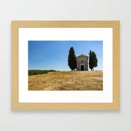 Cappella della Madonna di Vitaleta Framed Art Print
