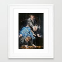 inner demons Framed Art Prints featuring Demons by Tatiana Ivchenkova
